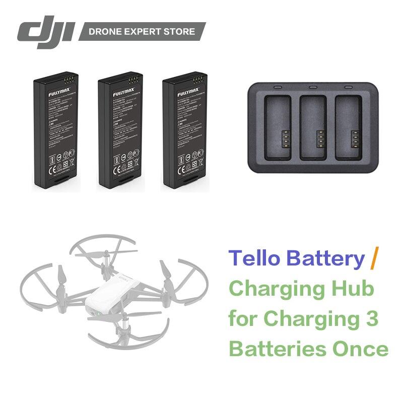 DJI RYZE Tello baterías de vuelo/Tello carga de batería Original RC Drone Accesorios