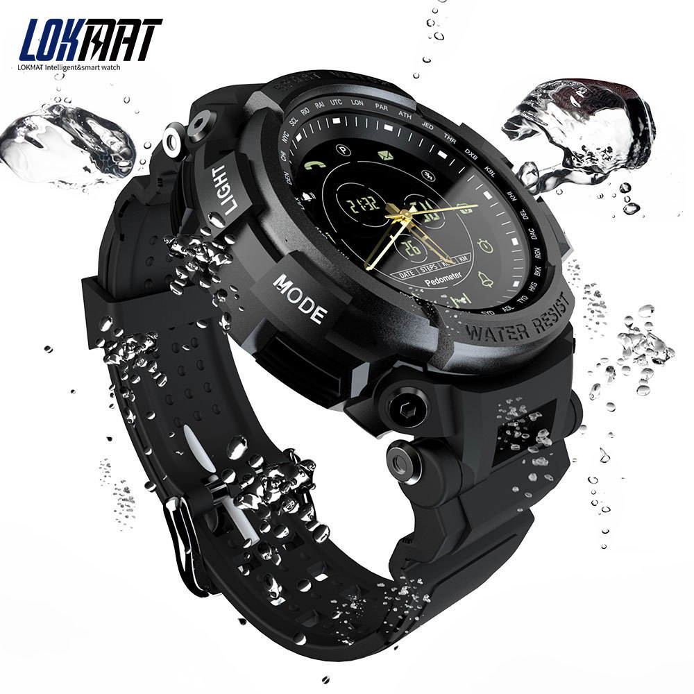 060d37e85 LOKMAT Sport Smart Watch Professional 5ATM Waterproof Bluetooth Call  Reminder Digital Men Clock SmartWatch For ios and Android -in Smart Watches  from ...
