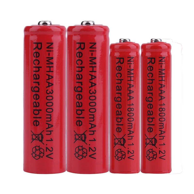 GTF 1.2V 3000mah AA Battery NI-MH Rechargeable Battery 1800mAh AAA Electronic cigarette battery LED Flashlight cr2032 Battery