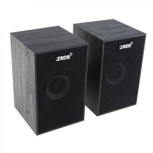 Image 2 - SADA  Portable Mini Wooden Subwoofer Computer Speaker with 3.5mm Audio Plug and USB 2.0 Interface for DVD TV Desktop PC Laptop