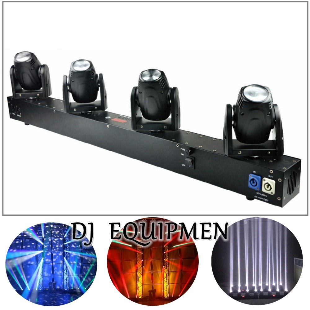 DJ equipment 4 Heads 60W Led Mini Beam Moving Head Light Professional Stage DJ Lighting DMX Controller Disco Projector Lasers new stage light controller 192ch dmx512 controller for stage dj equipment in led par moving head beam christmas laser projector