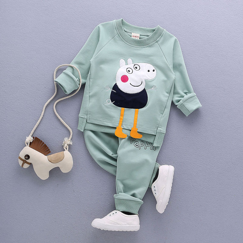 baby boys Girls clothing set Children spring autumn coat + pants kids clothes (5)