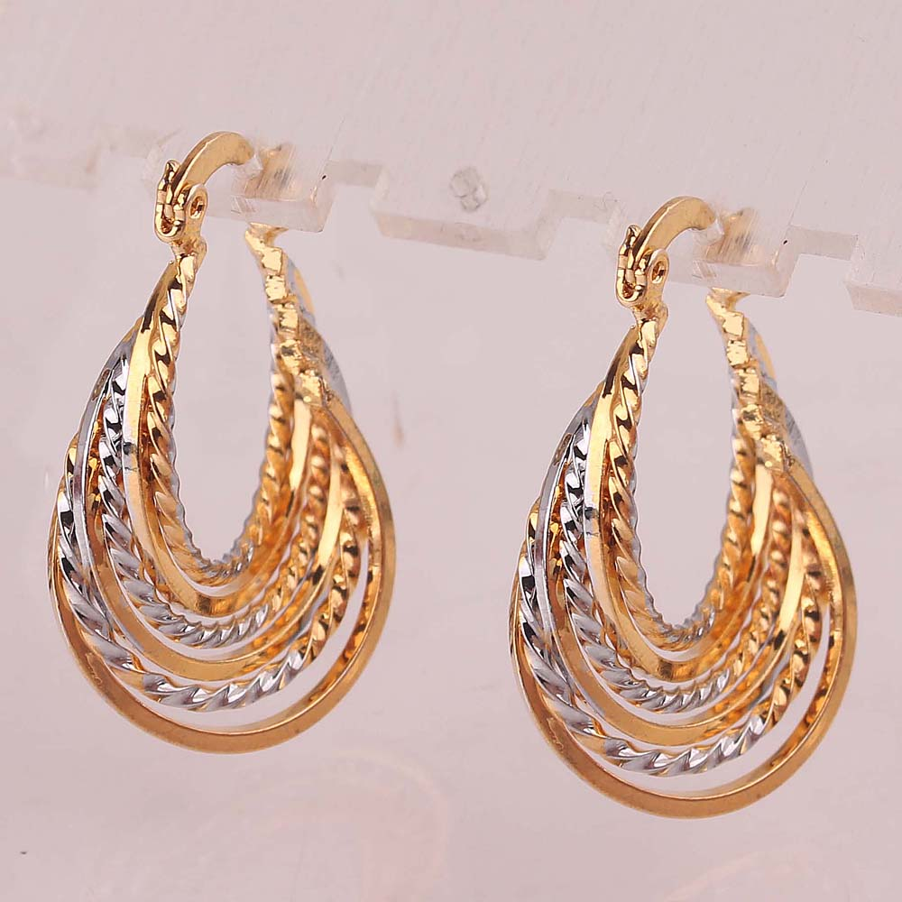 DAZZLING YANG\'S New Style 18k Yellow Gold Plated Women\'s Beautiful ...
