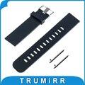 22mm de borracha de silicone banda de liberação rápida para samsung gear 2 r380 neo r381 live r382 moto 360 2 46mm smart watch strap pulseira