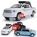 Моделирование 1:32 масштаб toyota Пикап diecast сплава автомобиля toys с мигающими и музыкальные вытяните назад модель для детей подарки