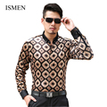 ISMEN Spring Man Shirts Long-Sleeve Shirts Camisas Full Sleeve Male Slim Casual Clothes Men's Dress Shirt Free Shipping