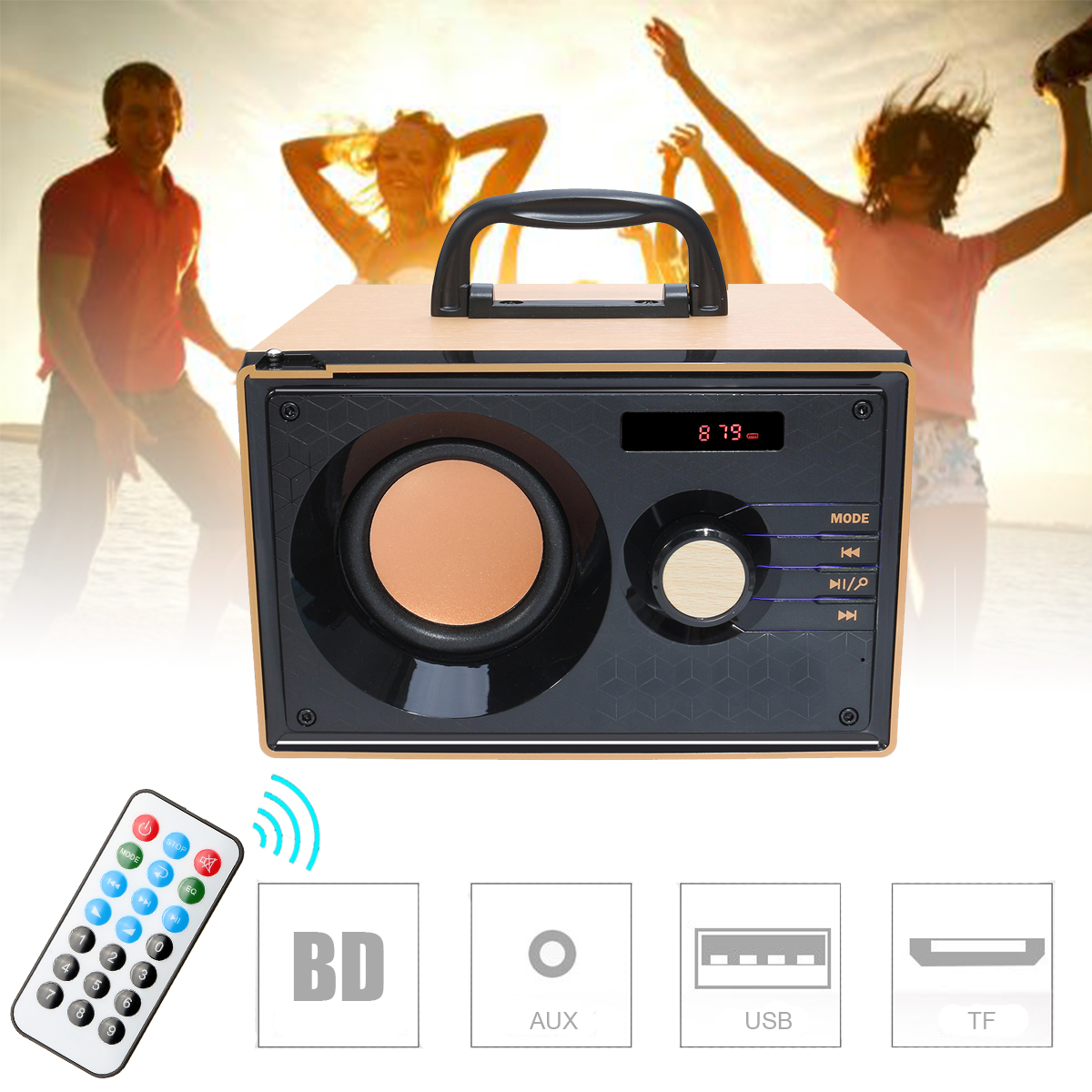 Stereo Bluetooth Speaker Subwoofer Heavy Bass Wireless Big Speakers Boombox Sound Box Support FM TF Indoor Outdoor Speaker 3 speakers bluetooth speaker wireless stereo subwoofer heavy bass speaker music player support tf card fm radio boombox