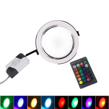 Ультра яркий круглый RGB LED-светильник 3 Вт 5 Вт 7 Вт 9 Вт 10 Вт 12 Вт 15 Вт алюминий AC110V 220 В Светодиодный светильник Теплый/Холодный встраиваемый Точечный светильник