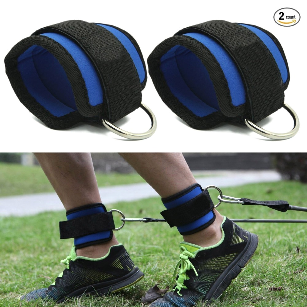 1pair Fitness Ankle Straps Practical Exercise Ankle Cuffs Padded Ankle Strap For Legs Abs And Gluteus Exercises Suit For Bands