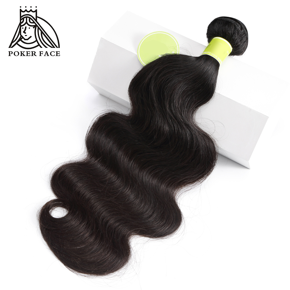Poker Face Hair 3 Bundles Deals Body Wave Indian Virgin Hair Bundle Human Weaving Natural Color