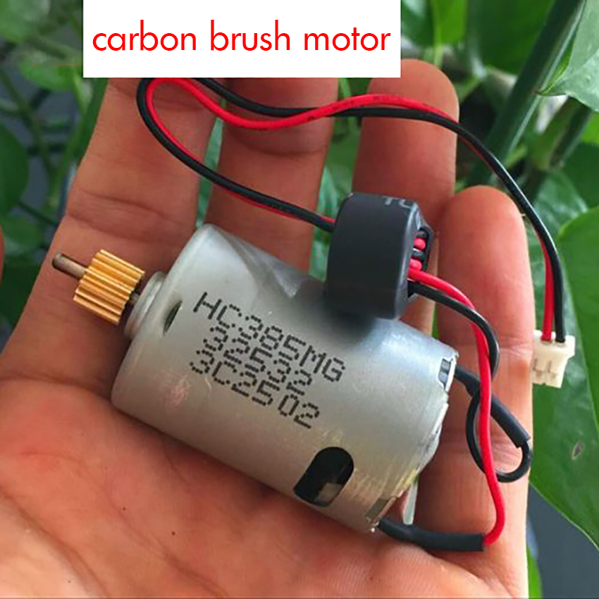 385 Carbon Brush DC Motor with Wire Hight Speed Large Torque Micro Motor DC 1.0-12V 28700rpm 14 Gears, Shaft Dia 2.3mm