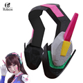 High Quality Games OW D.VA Cosplay Accessories D.VA Headwear Anime D.VA Cosplay Earphone DVA Cosplay Costumes PLA Material