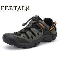 2017 Clorts Men Hiking Sneakers Low Cut Sport Shoes Breathable Hiking Shoes Men Athletic Outdoor Professional