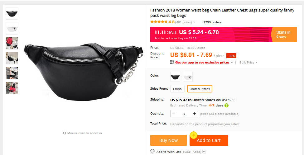 Color : Black Women Waist Bum Bag Rivet Flannel Belt Bag Multifunctional Lightweight Zipper Fanny Pack Mini Purse Travel Outdoor Sport Bag Cell Phone Pouch Phone Purse Handbag