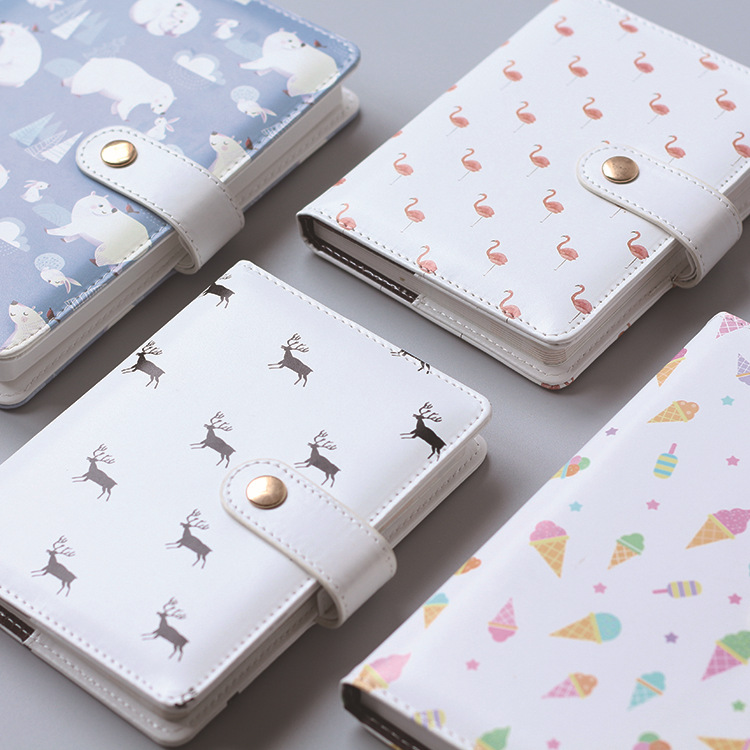 Cute Polar Bear And Ice-cream Theme Colorful Sheets Journal Book 13*19cm DIY daily planner Cute Scheduler 114 Sheets gift boutique endless summer ice cream recipe book