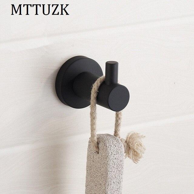 Mttuzk Zwart 304 Rvs Kleerhaken Keuken Haken Woonkamer Muur
