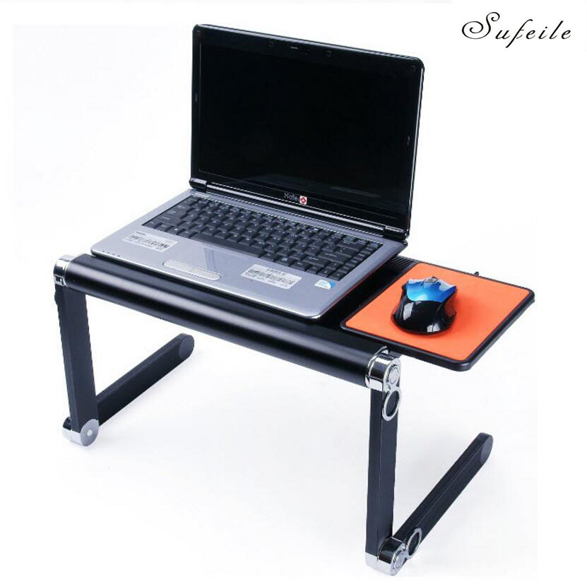 SUFEILE Fashion Laptop Desk 360 Degree Adjustable Folding Laptop Notebook PC Desk Table BLUE Stand Portable