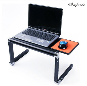 Image 1 - SUFEILE Mode Laptop Schreibtisch 360 Grad Verstellbare Falten Laptop Notebook PC Schreibtisch Tisch BLAU Stehen Tragbare Bett Tablett D5