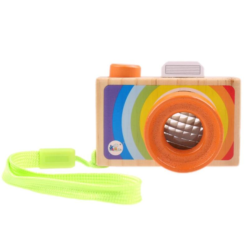 Baby Kids Toy Camera Cute Cartoon Wooden Camera Toy Photography Prop Safe Natural Educational Toy Gifts