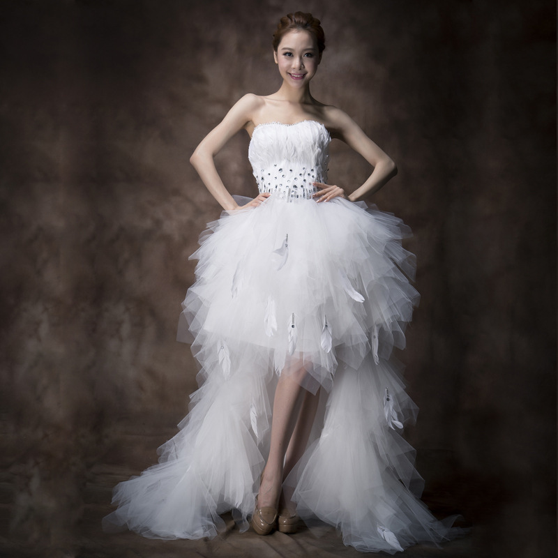 a83021aa48 country western wedding dresses white feather wedding dress plus size short  front long back gowns wedding