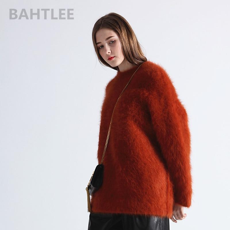 Kadın Giyim'ten Kazaklar'de BAHTLEE sonbahar kış kadın angora örme kazak kazak O BOYUN vizon kaşmir kelebek kol çok kalın sıcak tutmak gevşek'da  Grup 2
