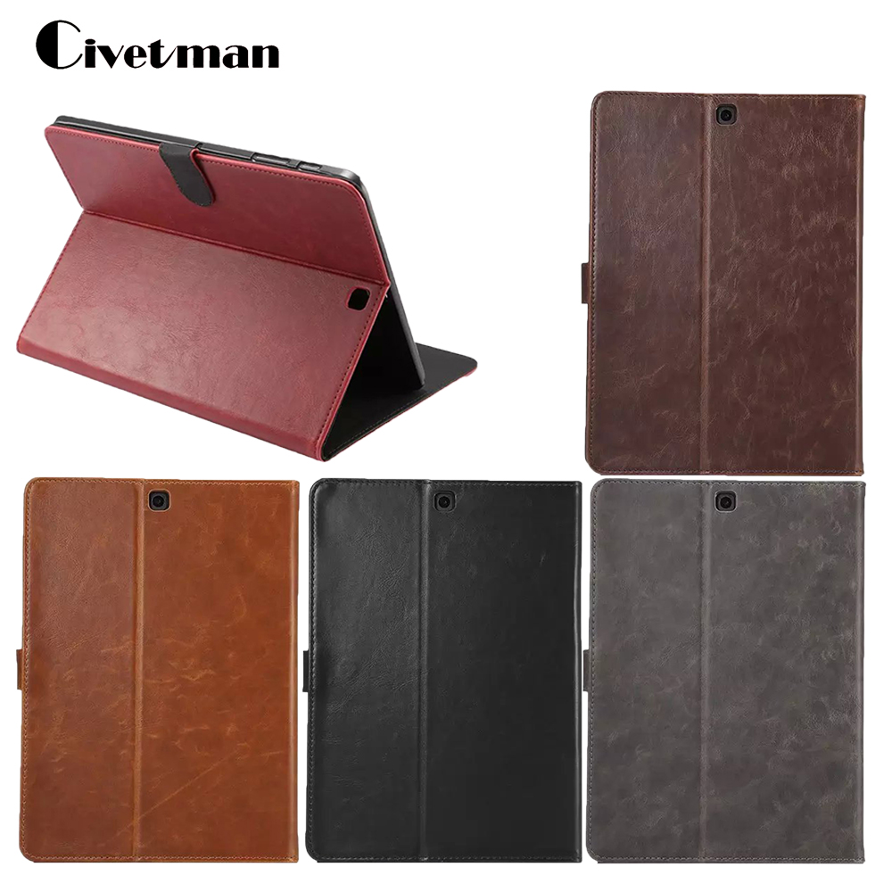Crazy Horse Business Tablet Case For Samsung GALAXY Tab S2 9.7 T810 T815 SMT810 SM-T815 Tablet Protective PU Leather Cover luxury pu leather cover case for samsung galaxy tab s2 9 7 t810 t815 sm t810 flip stand for samsung galaxy s2 t815 cases kf469a