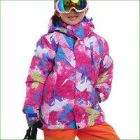 Free Shipping New Brand KC02N Winter Children Ski Jacket Children Winter Sportwear Coat Waterproof Snowing Kids
