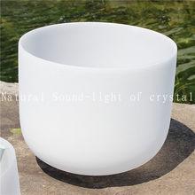 10 polegadas nota musical fosco cristal de quartzo cantando tigelas