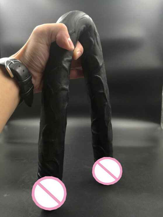 Sex Products black Flexible Big Double Dildo, Long soft  Double Dildo Dong Penis , Lesbian Dual Penis, Double Penetration Dildos lesbian woman double ended dildo realistic penis big dick anal and vagina double dong penetration long dildos for women sex toys