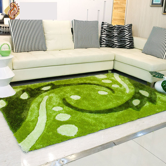 Modern Past Bedroom Pallor Carpet Green Scenic Decorative Tapete Rectangle Elasticity Rugs And Carpets Fly Knit