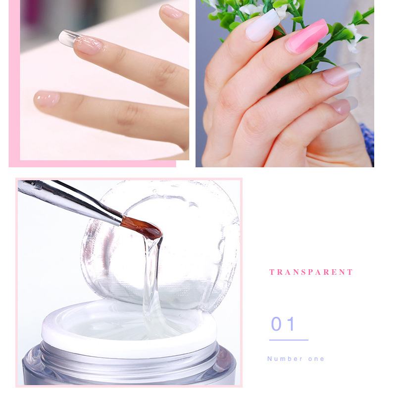 Blue Zoo 1 Pcs White Red Clear Nail Model Glue Supplies Light Therapy Uv Gel Base Extended Polish In From Beauty