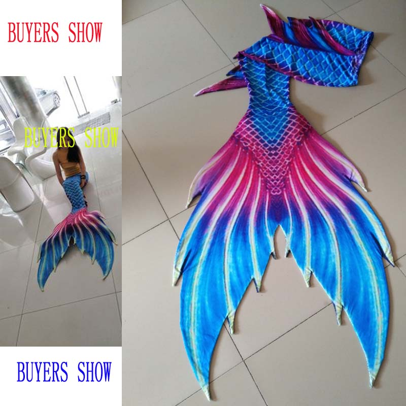 New!Customized Girls Mermaid Tail for Swimming Swimsuit Tail and Fins,Children Adults Swimwear Mermaid Tail with Monofin custome