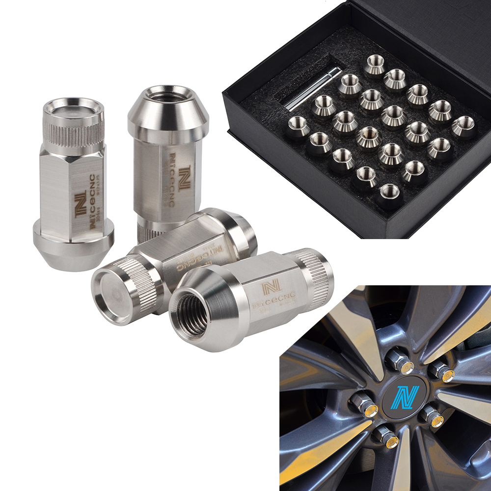 NICECNC 20 pièces acier inoxydable M14X1.5 Remplacement Roue Écrous de roue Pour Chevrolet Silverado 1500 Express 1500 C2500 K2500 K1500