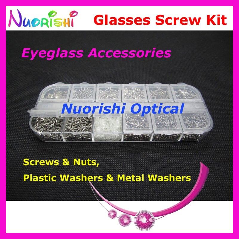 אביזרי ברגי משקפי שמש משקפיים HBS12 12 סוגים מנקי אגוזי box case סט ערכת תיקון כלי משלוח חינם