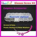 Hbs12 12 tipos gafas gafas de sol accesorios de los tornillos arandelas tuercas caja estuche Set Kit de herramienta de reparación envío gratis