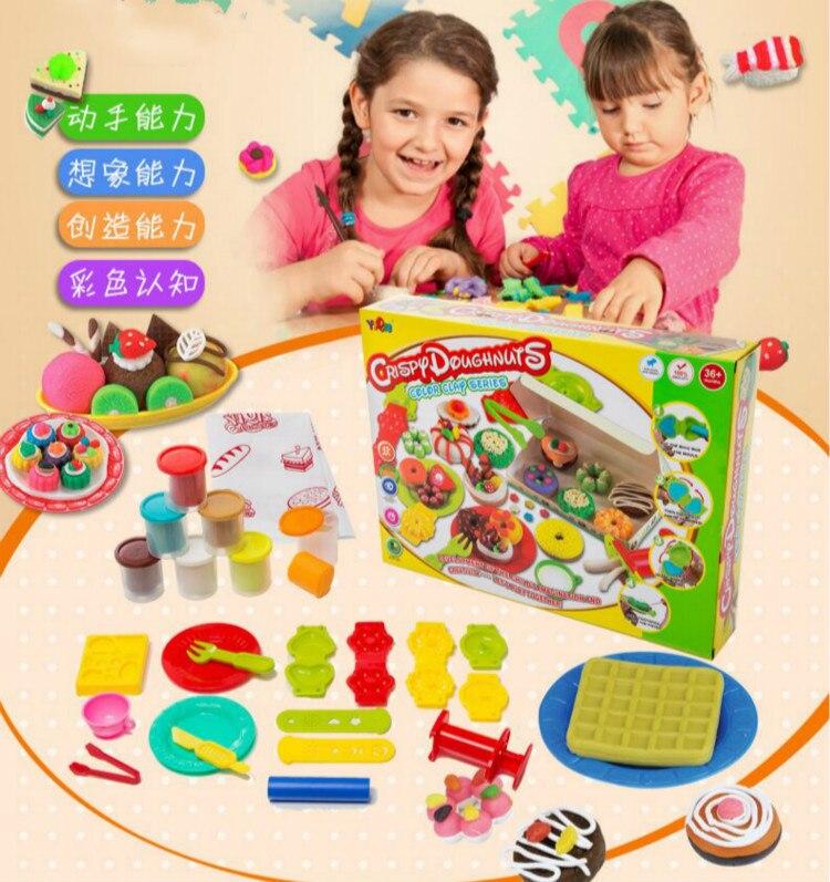 Slime souple beignet couleur boue chaude Puzzle bricolage Boutique Fun Plasticine 3D couleur argile ensemble jouets enfants jouets cadeaux pour enfants