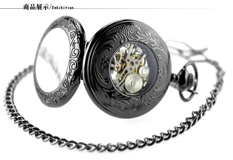 Do Vintage Relógio de Bolso Colar & Fob Com Corrente