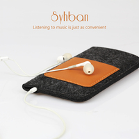 SYHBAN Handmade Wool Felt Wallet Style For Iphone 6 7 6S 7Plus Clear Case Custom Sizes