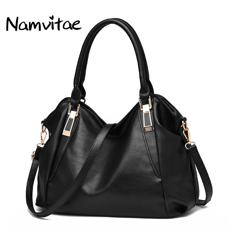 Namvitae Vintage Large Women Shoulder Totes Bag Famous Designer Casual Style Women Work Soft Leather Handbags Bolsa Feminina forudesigns casual women handbags peacock feather printed shopping bag large capacity ladies handbags vintage bolsa feminina