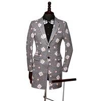 2018高品質ブランドブレザー男性スーツスリムフィットジャケット男