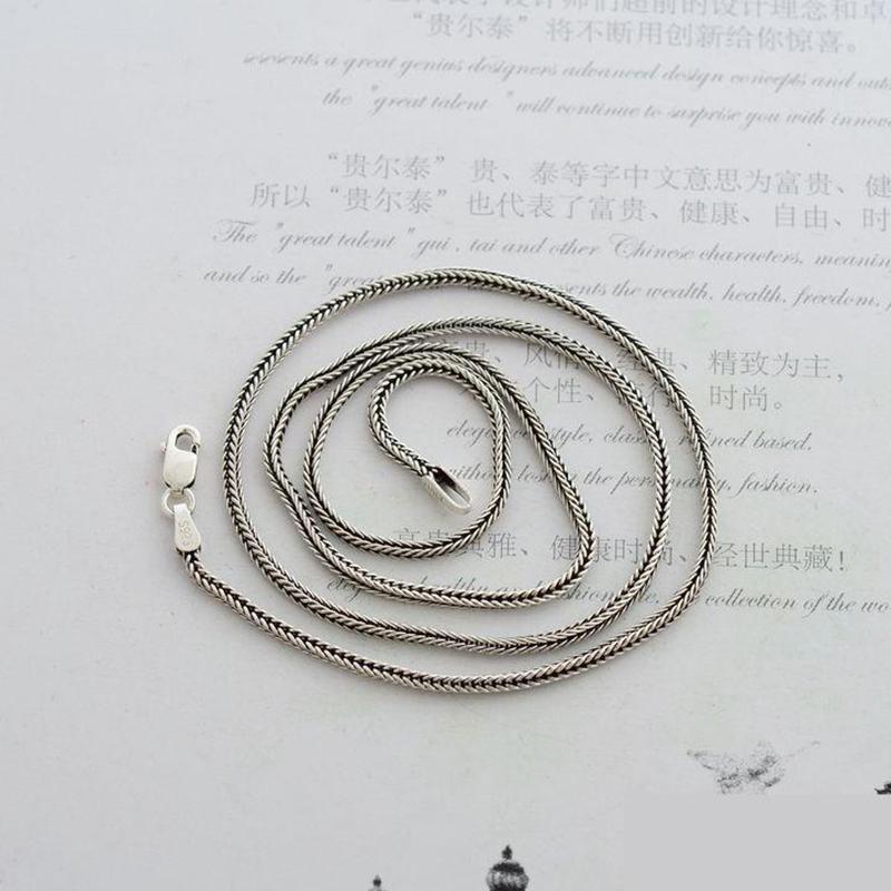 Cadena de collar de plata esterlina 925 pura real para mujeres y - Bisutería - foto 2