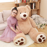 1pc Huge Size Kawaii 160cm USA Giant Bear Skin Teddy Bear Hull Good Quality Wholesale Price Selling Toy Birthday Gifts For Girls