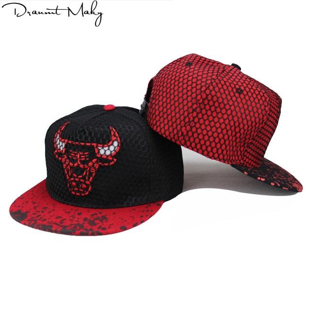 Brand Embroidered bull Hip Hop Hats Men Women Baseball Caps Snapback 4  Colors Cotton Bone European Style Classic Fashion Trend a664da40fb9