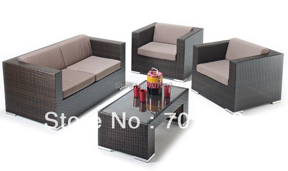 2017 polyethylene rattan Four Piece Outdoor Wicker Seating Set(China  (Mainland))