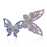 A pair of butterfly brooch wild shawl buckle brooch jewelry ball zircon brooch ladies brooch