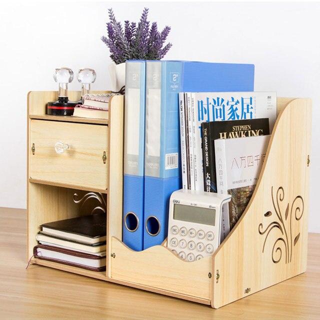 Hot Sale Prateleira Storage Desk Office Case File Box Book Drawer Type  Supplies Shelf Frame Wood