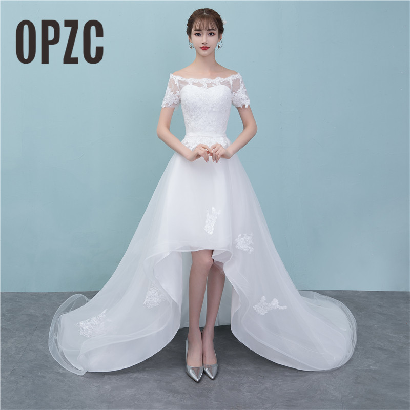 Wedding Gowns For Small Bust: Aliexpress.com : Buy OPZC Hot Sale 2018 High/Low Chapel