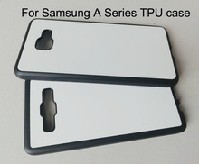 ยาง TPU สำหรับ samsung GALAXY A3 A5 A6 A7 2016 2017 A8 Plus A9 2018 ระเหิดโทรศัพท์กรณี + โลหะแผ่นอลูมิเนียม 5 ชิ้น/ล็อต