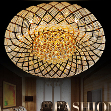 Crystal Ceiling Lights Fixture LED Lamps Gold Modern Ceiling Lamp Round Bird Nest Home Indoor Lighting 3 White Colors Changeable solid state relay ssr 40va solid state relay for industrial automation process ssr 40va voltage relay