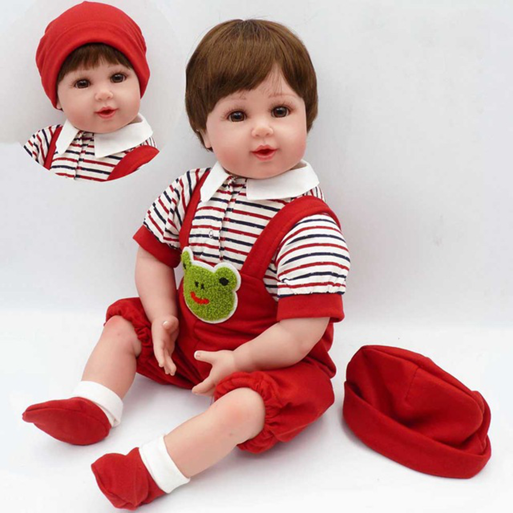 2018 New 20 Soft cloth body Silicone toddler Reborn Doll boy Baby Doll Lifelike bonecaes Bebe Juguetes Kids Toys Christmas gift2018 New 20 Soft cloth body Silicone toddler Reborn Doll boy Baby Doll Lifelike bonecaes Bebe Juguetes Kids Toys Christmas gift